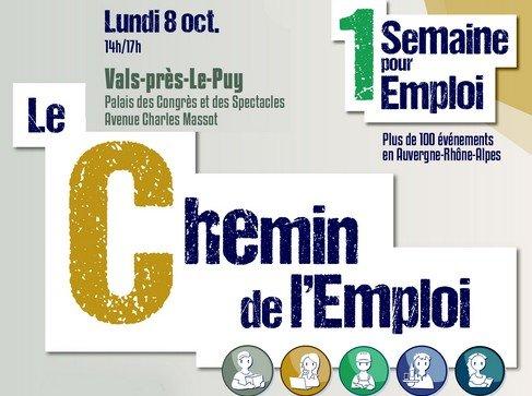 1 semaine pour l'emploi : un forum de l'emploi à Vals le 8 octobre