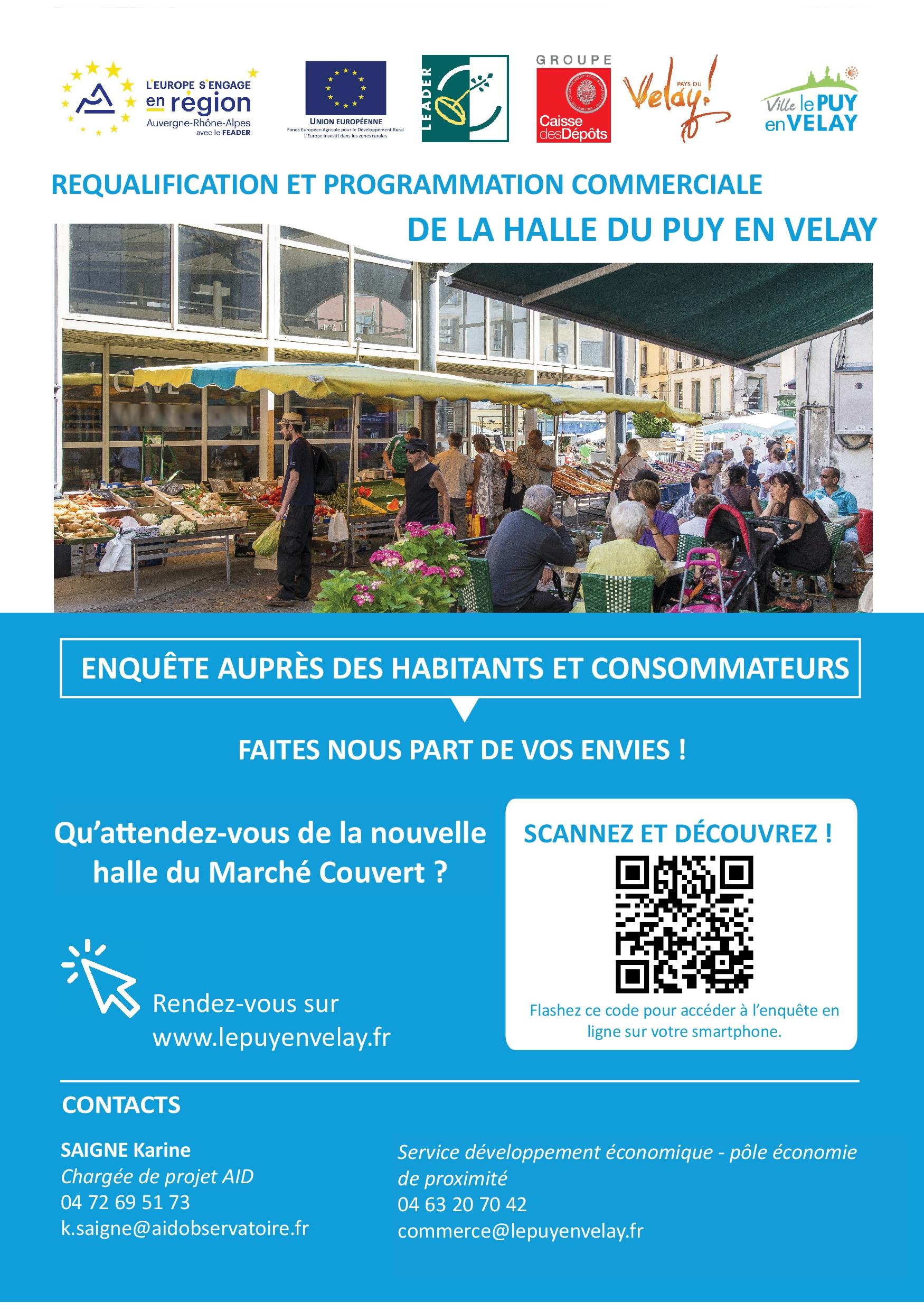 Enquête sur la réhabilitation de la halle alimentaire, place du Marché couvert, au Puy-en-Velay