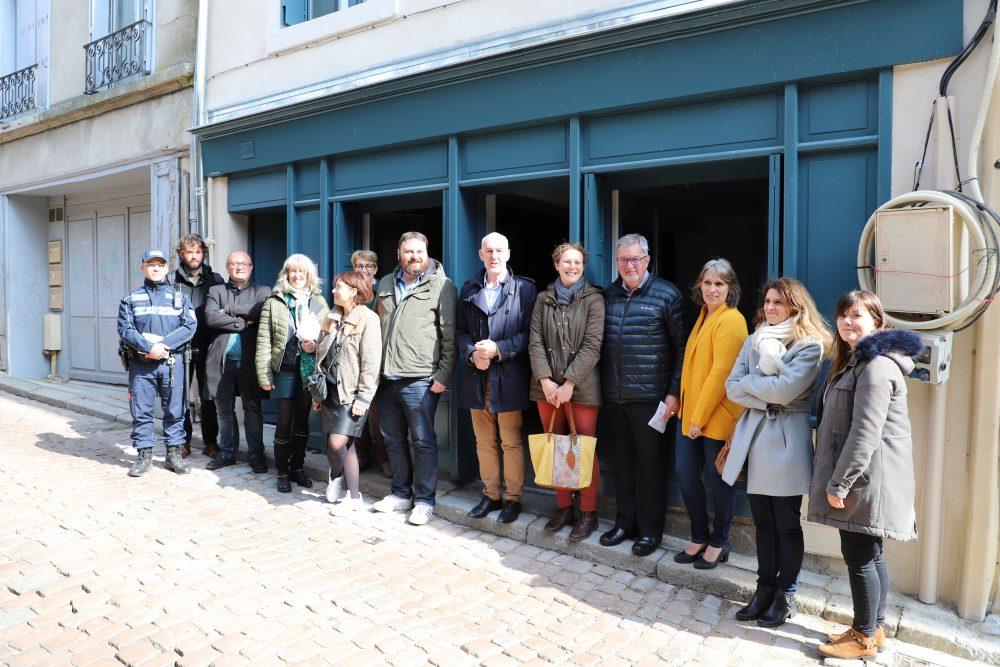 Opération Programmée d'Amélioration de l'Habitat de Renouvellement-Urbain 2012/2019 : visite d'un chantier en cours de travaux au Puy-en-Velay