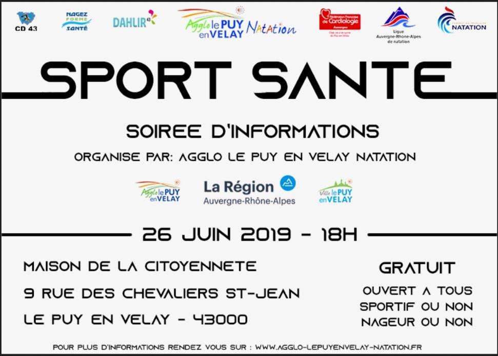 Sport et Santé : une soirée d'informations le mercredi 26 juin au Puy-en-Velay