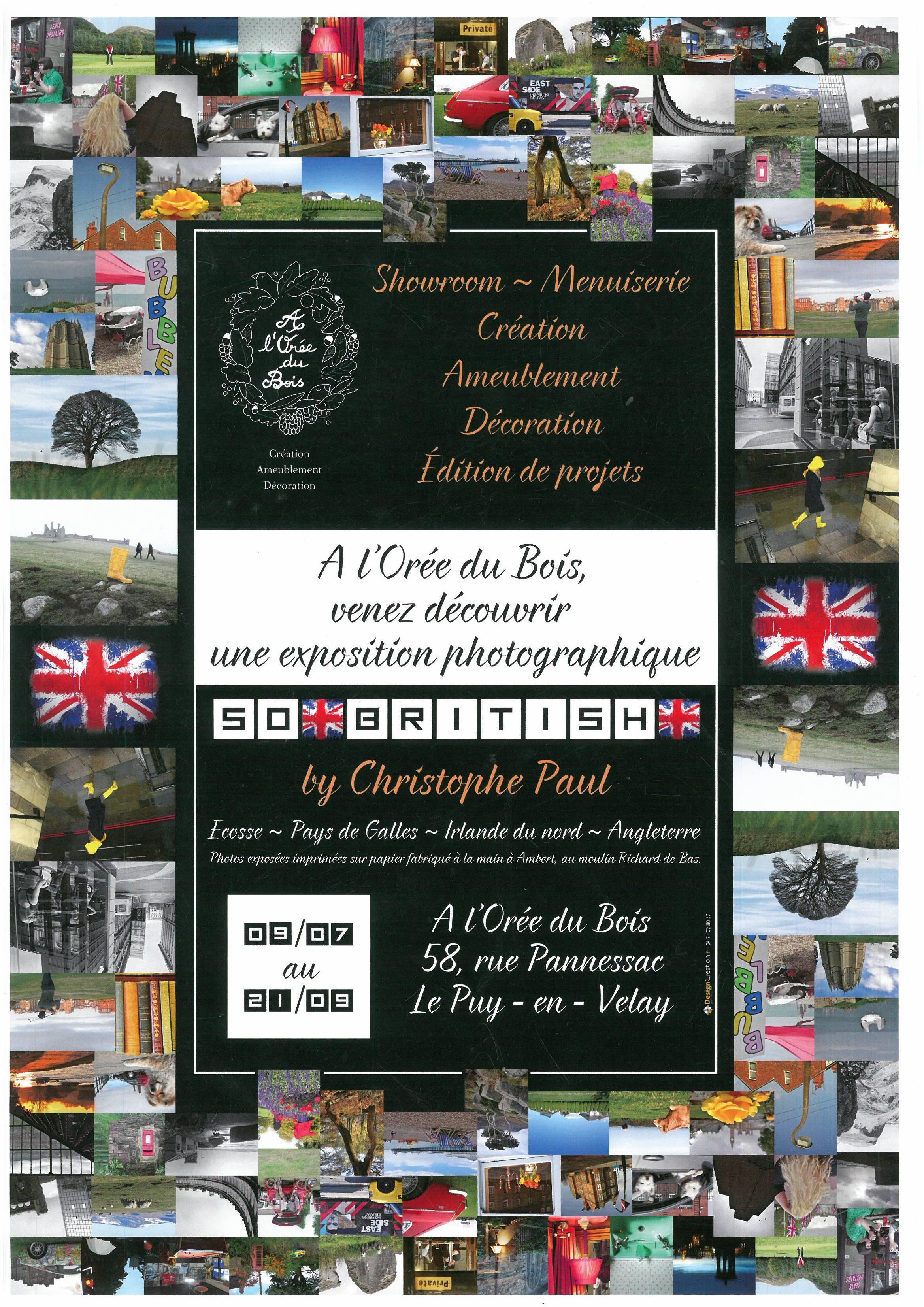 Design Creation Le Puy En Velay exposition so britishchristophe paul - communauté d
