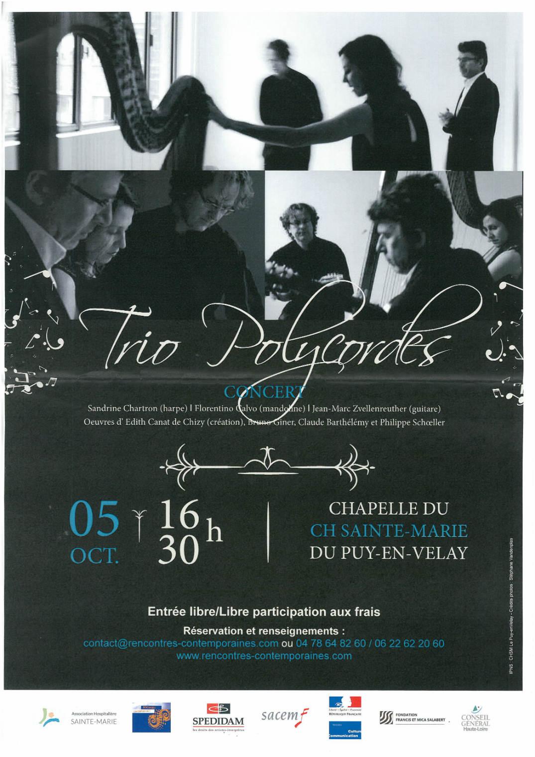 Design Creation Le Puy En Velay concert trio polycordes - communauté d'agglomération du puy