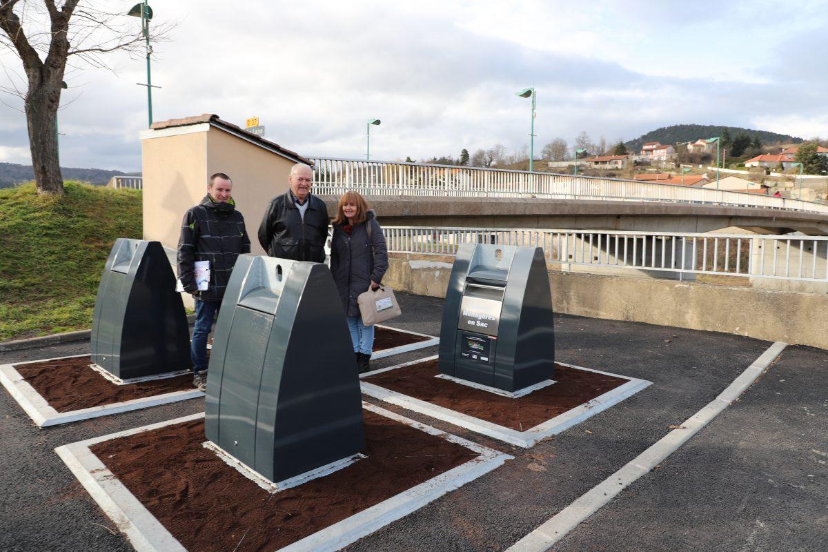 Des nouveaux conteneurs pour la collecte des déchets à Coubon